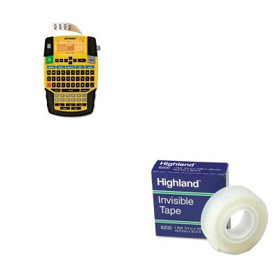 KITDYM1801611MMM6200341296 - Value Kit - Dymo Rhino 4200 Basic Industrial Handheld Label Maker (DYM1801611) and Highland Invisible Permanent Mending Tape (MMM6200341296)