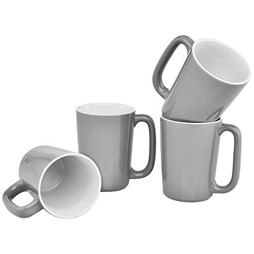 Culver SLAT Mug, 16-Ounce, Grey White, Set of 4