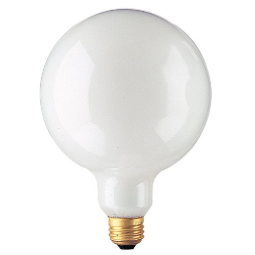 Bulbrite 100G40WH 100W G40 Globe 125V Standard Base Light Bulb, White