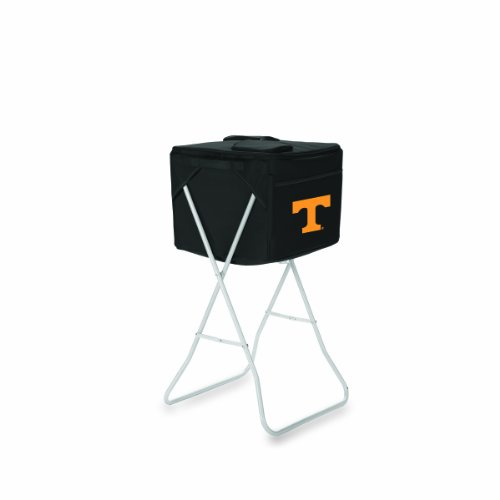 NCAA Tennessee Volunteers Black Party Cube Portable Cooler with Stand