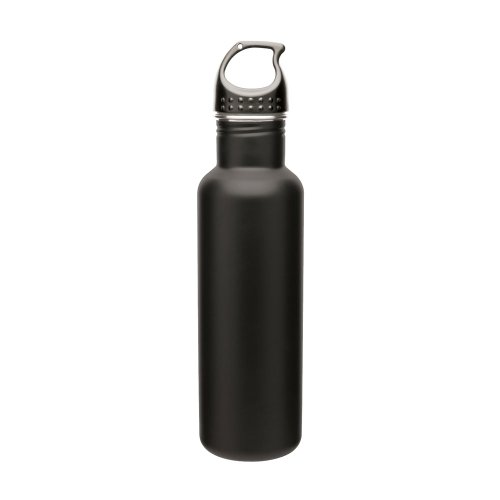 Stainless Steel Water Bottle Canteen - 24oz. Capacity - Matte Black