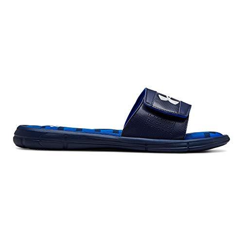 Under Armour Men's Ignite Stagger V Slide Sandal Academy (400)/Blue Strike 9 M US