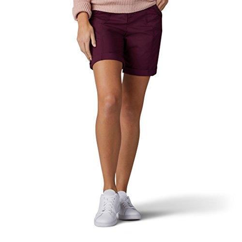 LEE Women's Relaxed Fit Melody Knit Waist Bermuda Short, Zinfandel, 6