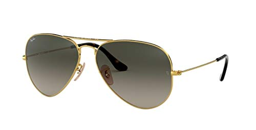 Ray Ban RB3025 AVIATOR LARGE METAL 181/71 58M Gold/Light Gray Gradient Dark Gray Sunglasses For Men For Women