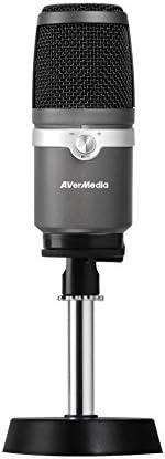 Microfono USB AVerMedia AM310 - Microfono Cardioide con alta qualità di registrazione, microfono USB, latenza zero, riproduzione audio PC. Multifunzionale per registrazioni, podcast, streaming