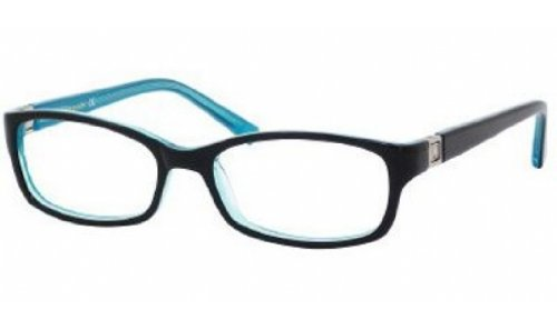 Kate Spade Regine Eyeglasses-0DH4 Black Aqua-52mm by Kate Spade New York