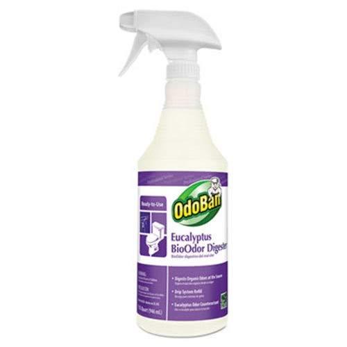 OdoBan BioOdor Digester, Eucalyptus Scent, 32 oz Bottle, 12/Carton