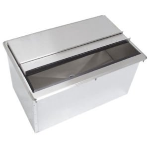 24'' x 18'' Drop in Ice Bin with Sliding Cover by Sani-Safe