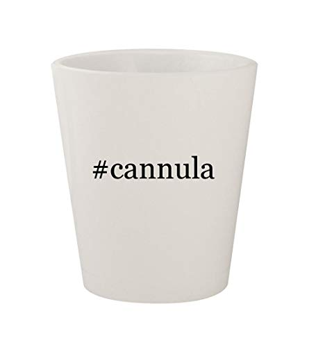 - #cannula - Ceramic White Hashtag 1.5oz Shot Glass
