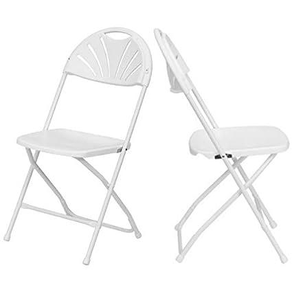 Fine Amazon Com Modern Premium Plastic Folding Chairs Ventilated Ibusinesslaw Wood Chair Design Ideas Ibusinesslaworg