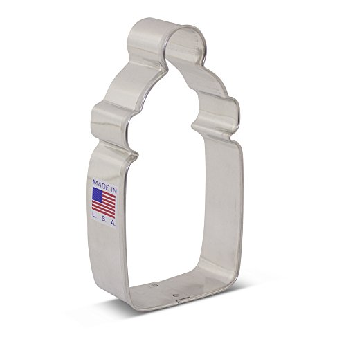 - Ann Clark Baby Bottle Cookie Cutter - 4.13 Inches - Tin Plated Steel