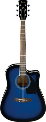 Ibanez Performance Series PF15 Cutaway Acoustic-Electric Guitar Blue ()