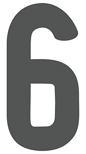 iCandy Products Inc Plastic Westmorland Single Letter Cutout Vintage Ready To Hang Monogram Home Decor, Gray (6) (24 In Tall)
