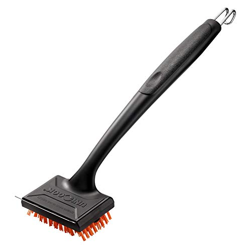 Unicook Outdoor Grill Brush, Heavy Duty Nylon BBQ Brush Cleaner, Removable Head for Easy Cleaning and Replacement, Best Alternative to Dangerous Wire Brush, Do Not Use on Hot/Warm Surface