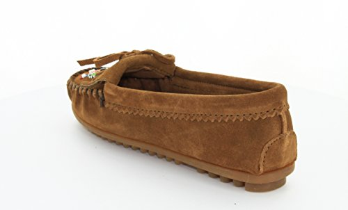 Minnetonka Me To We Maasai Moc Damen Mokassin Braun
