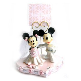 Amazon.com: Mickey Mouse and Minnie Mouse Wedding stand clip ...