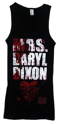 Walking Dead The Mrs Daryl Dixon Officially Licensed Junior Girls Tank Top Shirt S
