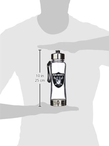 NFL Oakland Raiders 20oz Clip-On Clear Plastic Water Bottle