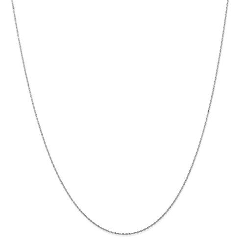 ICE CARATS 14kt White Gold .5 Mm Carded Cable Link Rope Chain Necklace 24 Inch Pendant Charm Fine Jewelry Ideal Gifts For Women Gift Set From ()