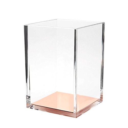 Acrylic Pen Holder - Clear Stationery Organizer, Desk...