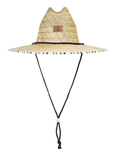 Roxy Womens Tomboy - Straw Sun Hat - Women - M - White Bright White Long Day Stripes M/L