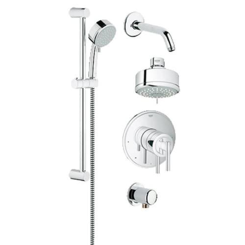 Pressure Balance Shower Set (Grohflex Timeless 4-Spray 2-Function Pressure Balance Shower System  - 2.0 Gpm)