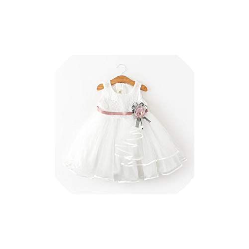 Girl Costume Clothing White Beading Princess Party Dress Elegant Ceremony 4 5 6 Years Teenage,As Picture2,3T