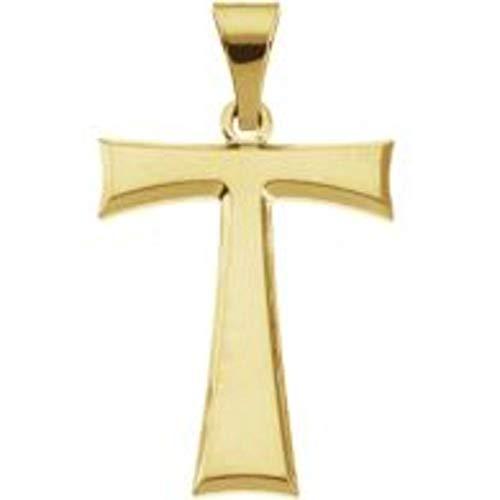 Bonyak Jewelry 14k Yellow Gold Tau Cross Pendant with Packaging