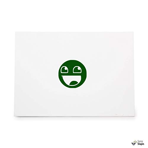 Epic Face Smiley JDM Import Drift, Rubber Stamp Shape Great for Scrapbooking, Crafts, Card Making, Ink Stamping Crafts, Item 1386200
