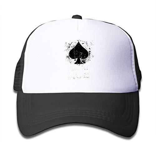 NO4LRM Kid's Boys Girls Kiss My Ace Youth Mesh Baseball Cap Summer Adjustable Trucker Hat