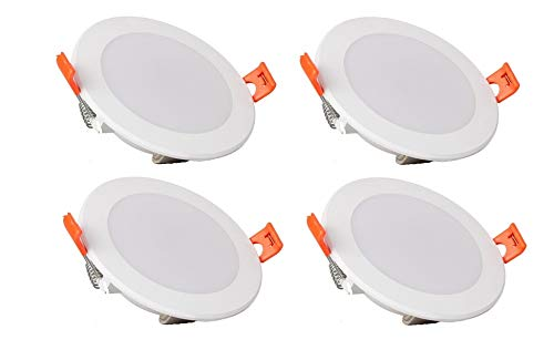 Amico 6watt LED Spark Round Ceiling Downlighter Concealed Light,(Cool White),(Pack of 4),(2 Year Warranty)