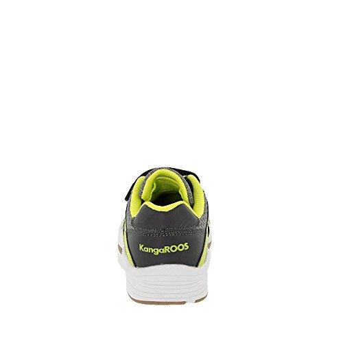 Kangaroos 18192 2014 - Zapatos de Cordones de Material Sintético Para Niño Anthrazit/Neongrün