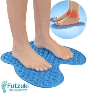 affordable AS SEEN ON TV NEW :Futzuki Reflexology Mat Foot massager acupressure pain  Relieve stress treatment (Blue)