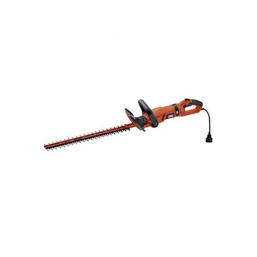 BLACK+DECKER HH2455 3.3-Amp HedgeHog Hedge Trimmer with Rotating Handle And Dual Blade Action Blades, 24''