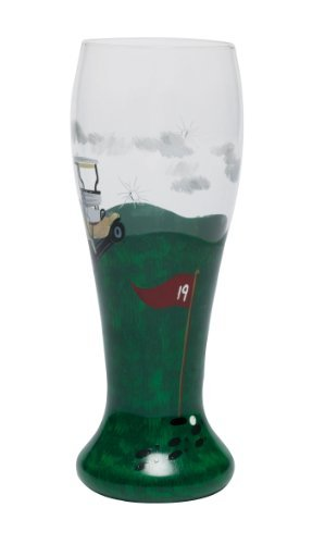 19th Glass Pilsner Hole - Lolita Hand Painted 19th Hole Pilsner Glass by Santa Barbara Design Studio