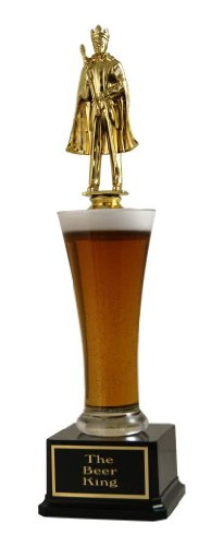 Far Out Awards The Beer King Trophy - Drinking Trophy, Beer Trophy, Beer Lover Gift, Funny ()