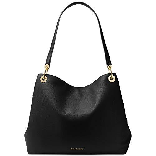 MICHAEL Michael Kors Womens Raven Leather Shoulder Handbag Black - Bags Michael Kors Cheap