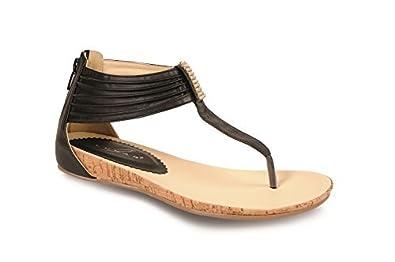 Sapphire Damen Sandalen Kleiner Keilabsatz Strukturiert Schmucksteine Zehensteg - Weiß, 3 UK