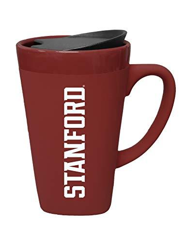 The Fanatic Group University of Stanford Ceramic Mug with Swivel Lid, Design 2 - Burgundy