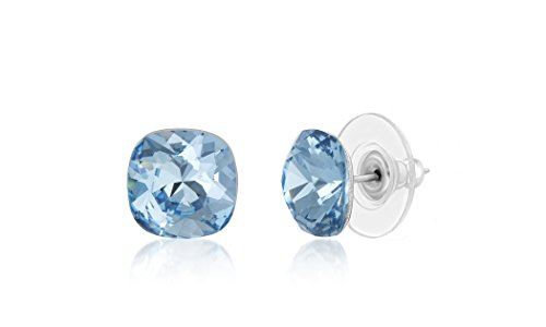 Devin Rose Cushion Solitaire Stud Earrings for ()