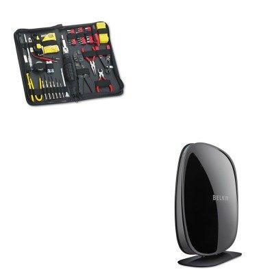 KITBLKE9K6000FEL49106 - Value Kit - Belkin N600 Wireless Router (BLKE9K6000) and Fellowes 55-Piece Computer Tool Kit in Black Vinyl Zipper Case (FEL49106) ()