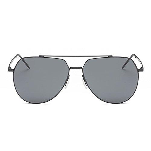 Yiwa homme protection en soleil Gray UV400 pour polarisées Frame avec Mode de Black de et nylon polarisés Lunettes Black femme soleil verres nbsp;Lunettes rrBaz
