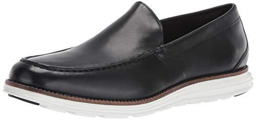 Cole Haan Men's Original Grand Venetian Slip-On Loafer, black/optic white, 8 M ()