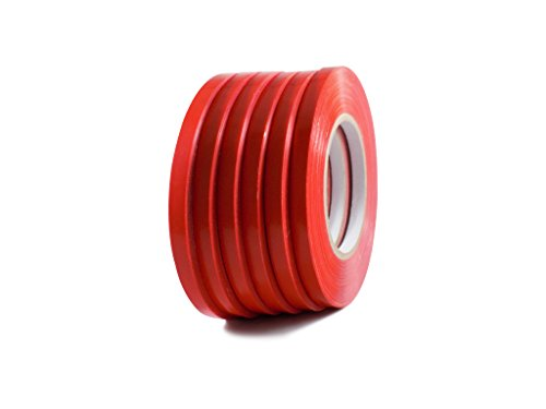 T.R.U. UPVC-24BS Red Poly Bag Sealing Tape: 3/8 in. x 180 yds. (Pack of 10)