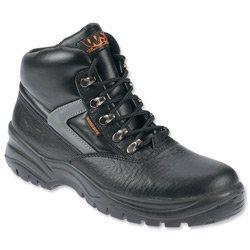 Marke New. Sterling Baustelle gut sichtbares Midi Stiefel steel-toe Stoß- und Hitzebeständig Größe 7schwarz Ref ss601sm7