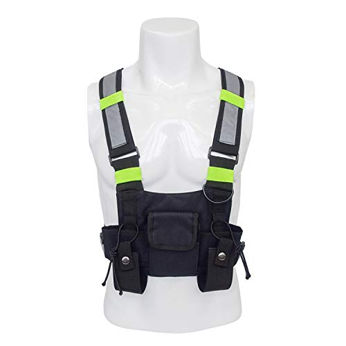 - Universal Radio Chest Harness, Hands Free Chest Bag Holster Pouch Vest Rig for Two Way Radio Walkie Talkies