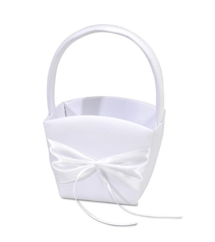 Darice VL33, Flower Basket Design You Own, White - Exclusive Cotton Satin