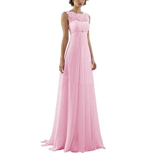 Damen Reich Rueckenfrei Strand Aiyana Spitze Perlen Rosa Brautkleid Lange Kleid Elegant Mutterschaft qf5CxA