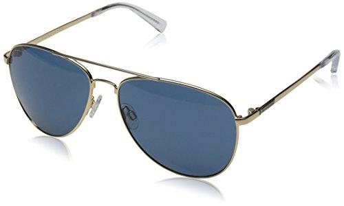 Veezee - Dba Von Zipper Farva Aviator Sunglasses, Gold/Blue, 59 - Sunglasses Farva