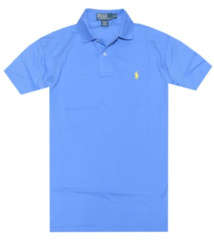 Polo Lauren Greenwich Blue Custom Men's Mesh Shirt Ralph Small Pony 1294 Fit 5cAj3Rq4L